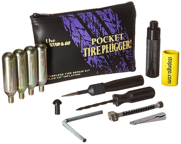 Motorcycle Tire Repair and Inflation Kit