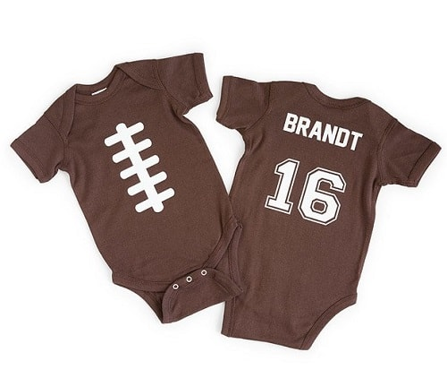 Personalized Football Babysuit - Gifts for Football Lovers