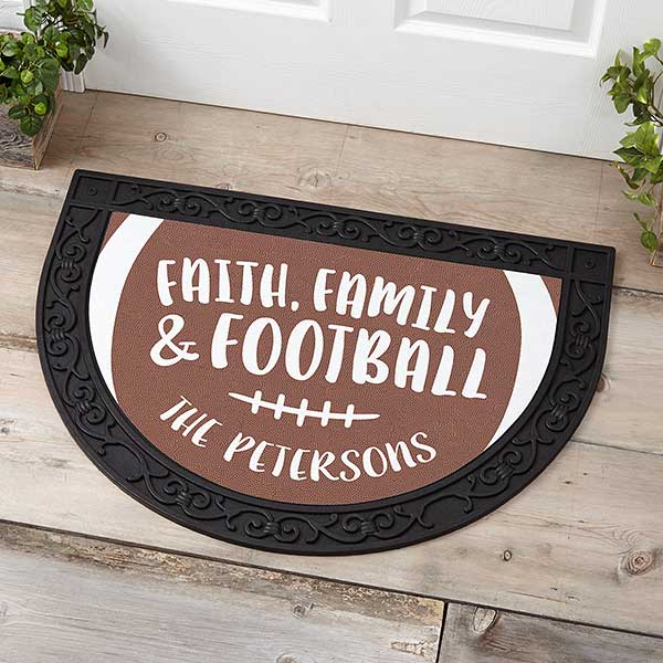 Football Doormat Personalized - Football Gift Ideas