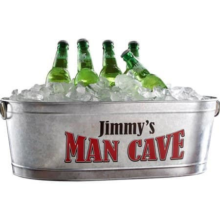 Personalized Man Cave Beverage Tub - Man Cave Gift Ideas