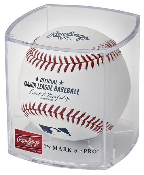 Rawlings Official 2020 MLB Baseball and Display Cube