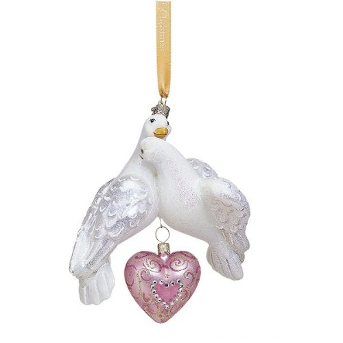 Reed & Barton Two Turtle Doves Christmas Tree Ornament