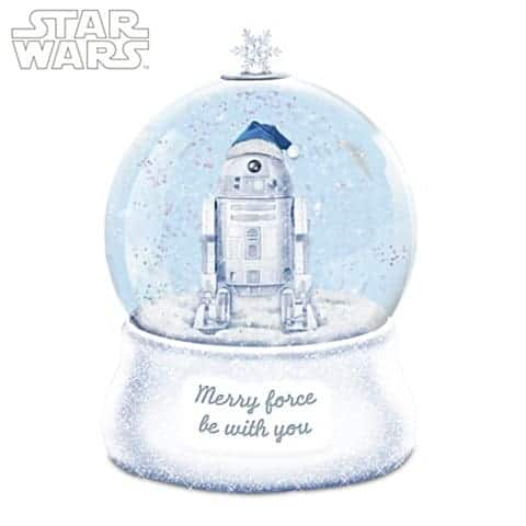 STAR WARS Illuminated Glitter Globe With Sculpted R2-D2