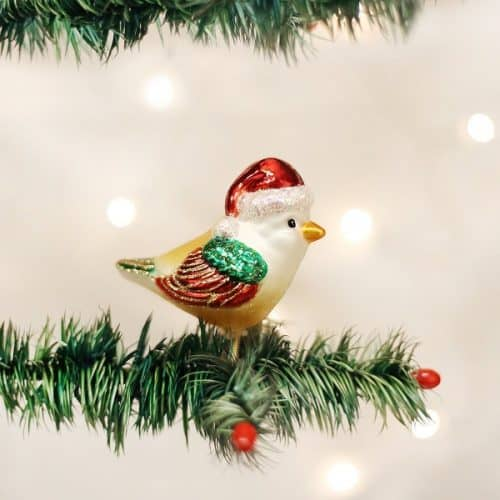 Santa Bird Christmas Ornament