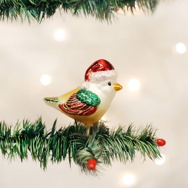 Santa Bird Christmas Ornament