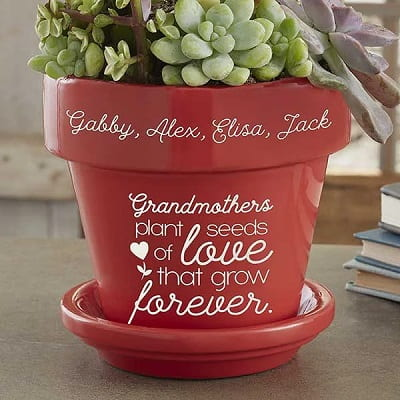 Seeds of Love Personalized Flower Pot for Grandma
