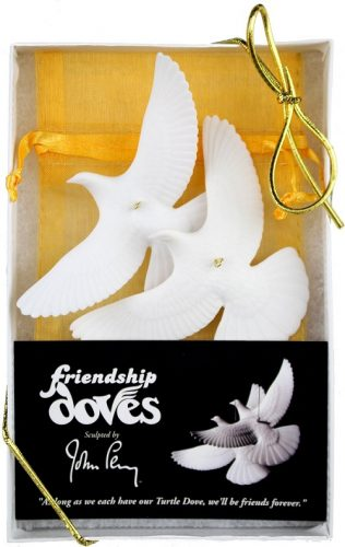 Set of 2 Turtle Dove Ornaments - As seen on Home Alone 2!