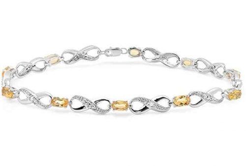 Silver Citrine Bracelet