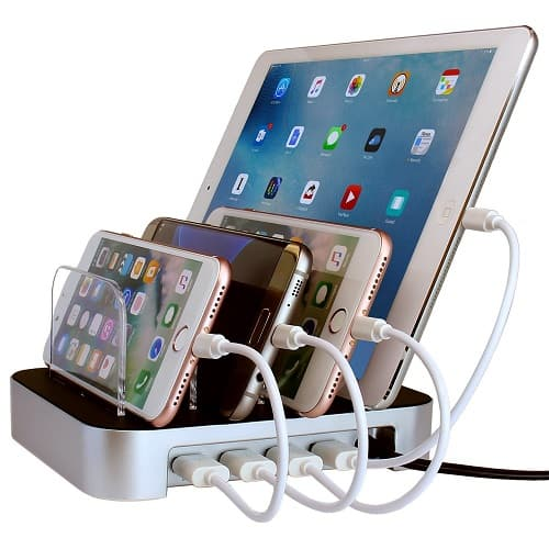 Simicore USB Charging Station Dock & Organizer for Smartphones, Tablets & Other Gadgets