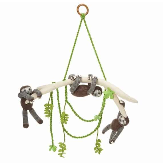 Sloth Pals Mobile Handmade Baby Toy - Handmade Gifts for Newborn Girls