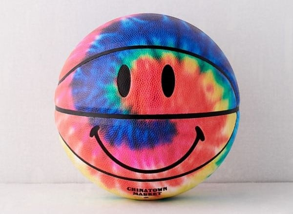 Smiley Tie-Dye Basketball - Urban Outfitters Exclusive
