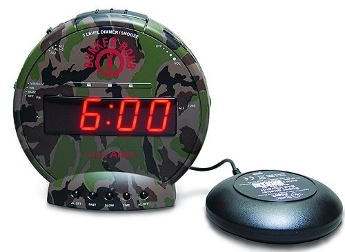 Sonic Bomb Alarm Clock with Bed Shaker