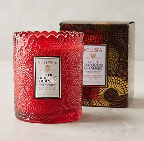 Christmas Hostess Gift Ideas - Voluspa Limited Edition Boxed Candle