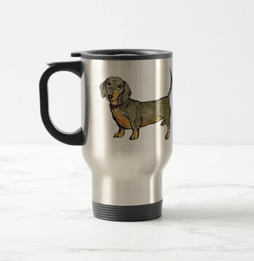 Wiener Dog Stainless Steel Travel Mug