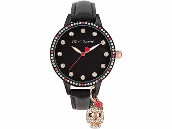 Betsey Johnson Charming Skull Watch