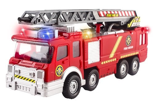 Big Toy Fire Truck With Lights, Sounds, Extending Ladder And Shooting Water