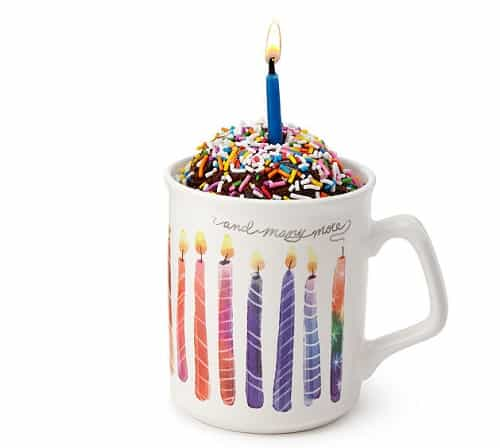 Birthday Cake in a Mug