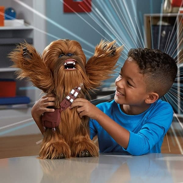 Chewbacca Interactive Toy by Hasbro | Chewbacca raises his arms, roars, moves and talks Wookiee! #starwarstoys | Gifts for boys age 4