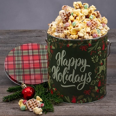 Cookies For Santa Popcorn Tin