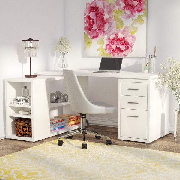Drewes L Shaped Desk - Teen bedroom furniture