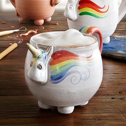 Elwood the Rainbow Unicorn Mug