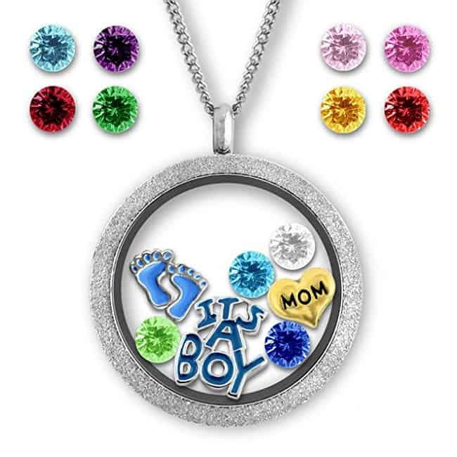 Floating Charms Locket   Jewelry Gifts For New Moms