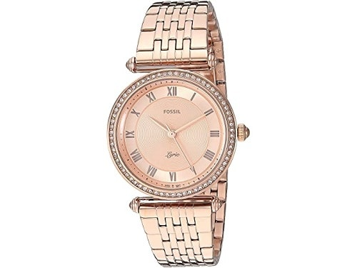 Fossil Lyric Three Hand Watch - Rose Gold