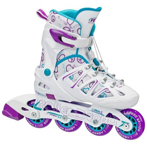 Girl's Stinger Adjustable Inline Skates by Roller Derby | Best Presents for a 12 Year Old Girl