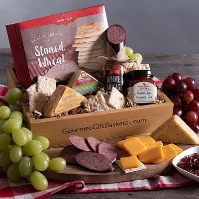 Gourmet Meat & Cheese Sampler - Food Gifts for Men