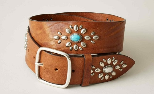 Handcrafted Turquoise Mod Belt