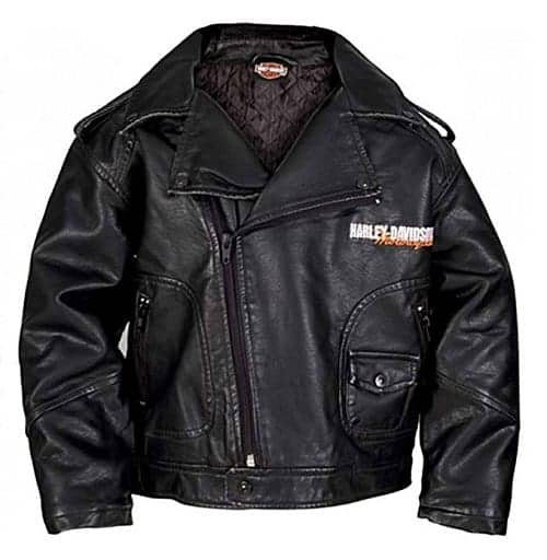 Harley Davidson Jacket for Boys - Totally cute biker jacket featuring the Harley Davidson logo on the back and front. Officially licensed