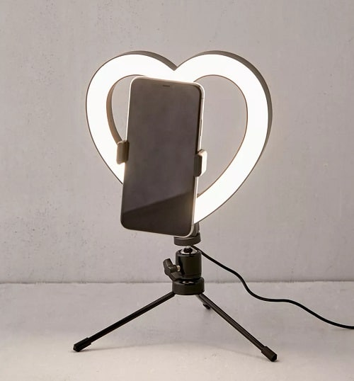Heart Shaped Vlogging Ring Light