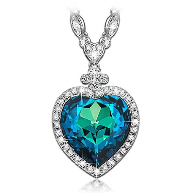 Heart of the Ocean Titanic Sapphire Pendant Necklace   Jewelry Gifts For New Moms
