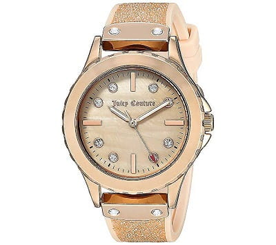 Juicy Couture Blush Crystal Strap Watch