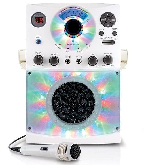 Karaoke System with Bluetooth, Sound and Disco Light Show