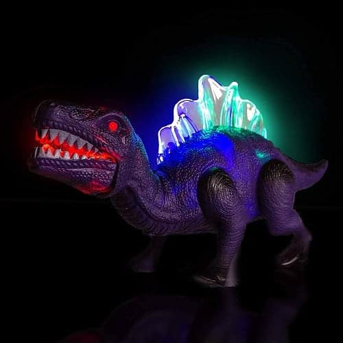 LED Light Up and Walking Realistic Dinosaur with Sound