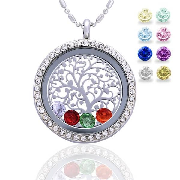 Living Memory Locket Floating Pendant Necklace   Jewelry Gifts For New Moms