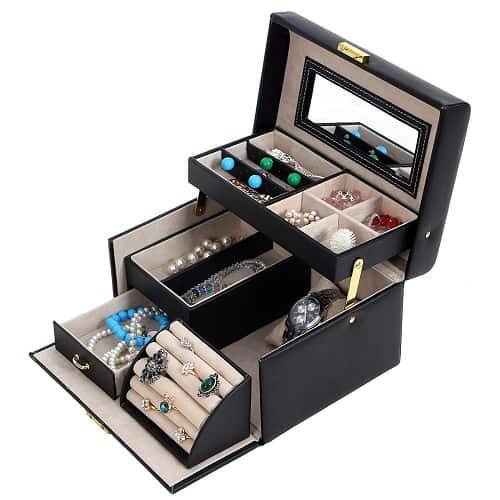 Lockable Jewelry Storage Case