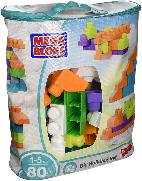 Mega Bloks First Builders Big Building Bag | Gifts for 2 year old boys