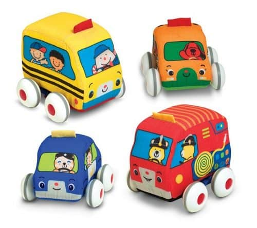 Melissa & Doug Kids Pull Back Vehicle Set