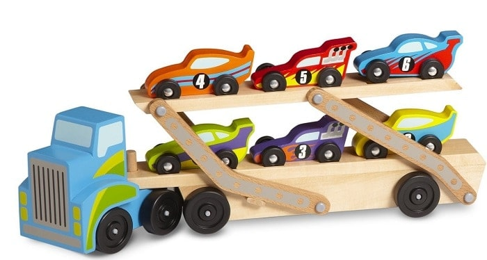 Melissa & Doug Mega Race Car Carrier | Gifts For 3 Year Old Boys