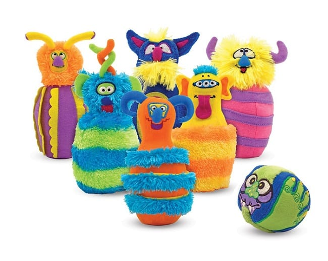 Monster Plush Bowling Game by Melissa & Doug | Gifts for 2 Year Old Boys