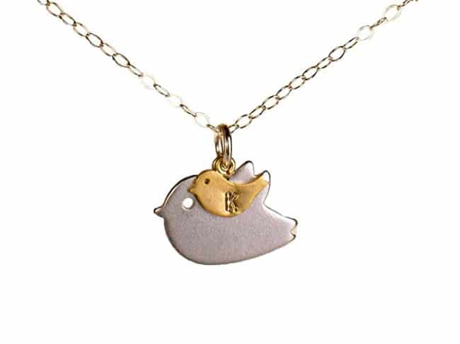 New Mom Necklace with Initial   Jewelry Gifts For New Moms
