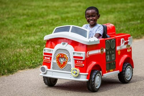 Paw Patrol Marshall Fire Truck Ride On Toy | Gift and Toys for Boys Age 4