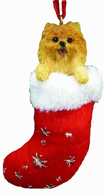 Pomeranian Christmas Stocking Ornament