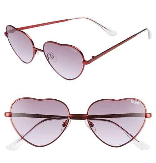 QUAY AUSTRALIA X Elle Ferguson Kim Sunglasses in Red-Purple Fade