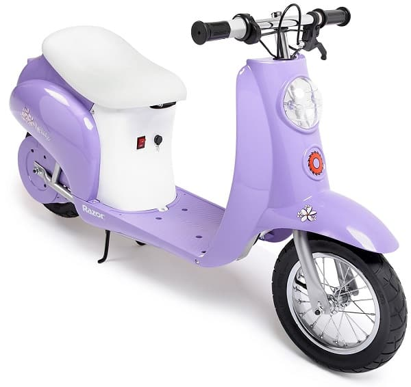 Razor Pocket Mod Miniature Euro Electric Scooter - Great gift for girls age 13 and up! This electric scooter has a Euro style vintage look and goes 15 mph #giftideas