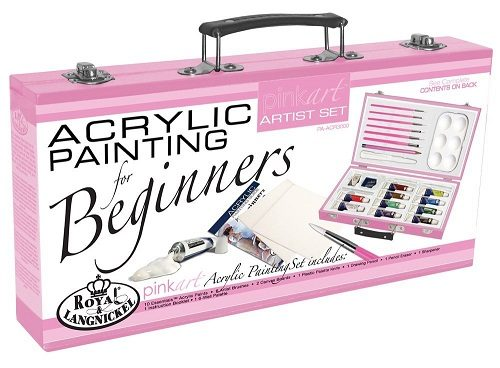 Royal and Langnickel Pink Art Acrylic Painting Artist Set for Beginners