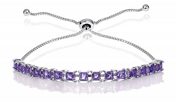 Silver Amethyst Tennis Bracelet