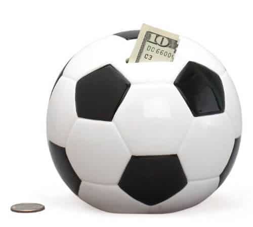 Soccer Ball Piggy Bank